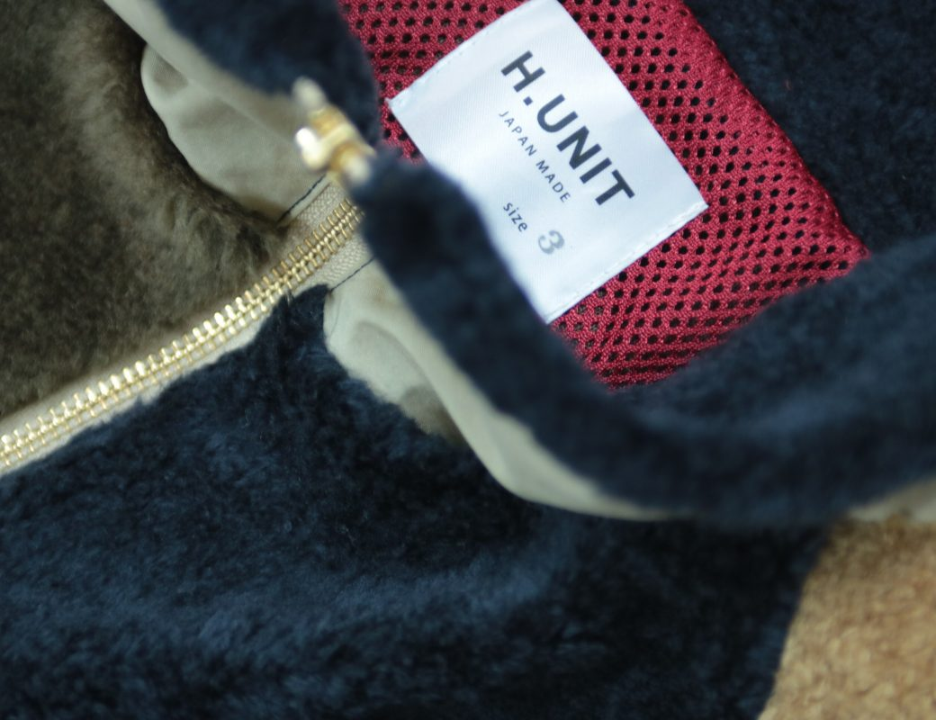 H.UNIT   Fleece Crazy Zip Jacket