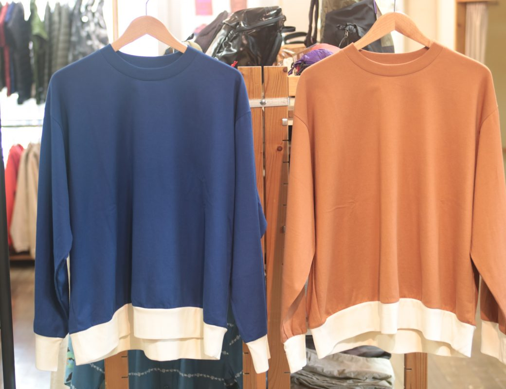 H.UNIT  Jersey stich wide long sleeves T shirt